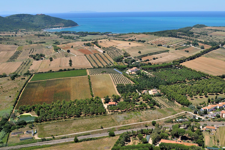 Vista aerea della costa